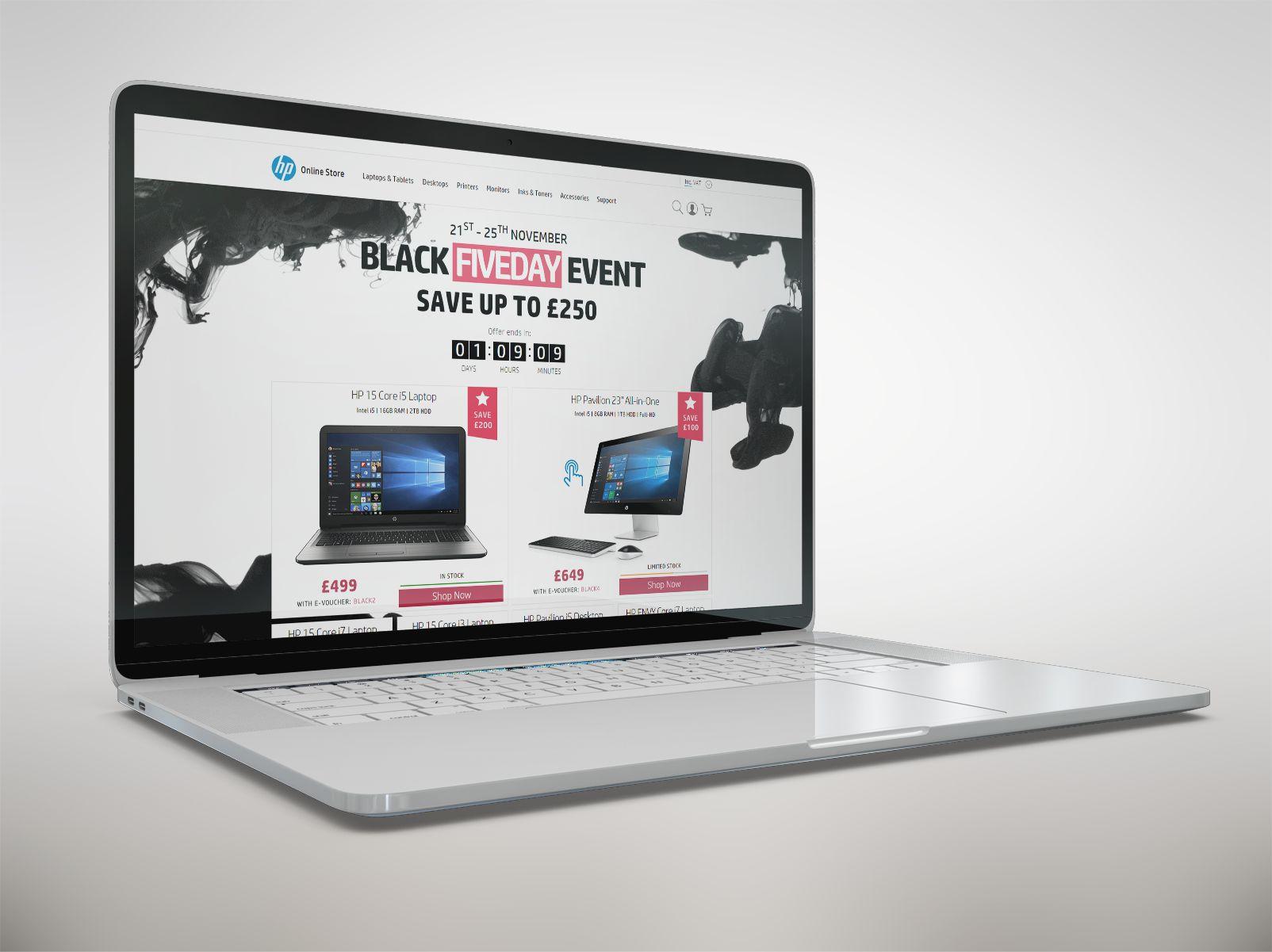 HP Black UK Laptop pic